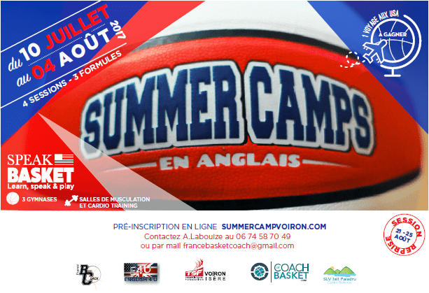 Summer camp en anglais basket coach